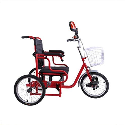 Triciclo con pedal de accionamiento humano Bicicleta de movilidad de silla de...