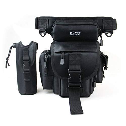 Xieben Angeln Drop Bein Tasche für Männer Outdoor-Tackle Fanny Blet Pack Multifunktions Utility Rig Tatical Tasche Abnehmbare Wasserflasche Beutel Lagerung für Wandern Radfahren Klettern