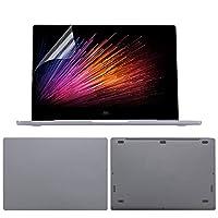for Xiaomi Mi Notebook Pro 15.6 Air 12.5 13.3用のフルボディラップトップステッカー13.3 for Xiaomi Game Notebook 15.6用ラップトップ皮膚保護ケース-Dark Grey-Game notebook 15.6