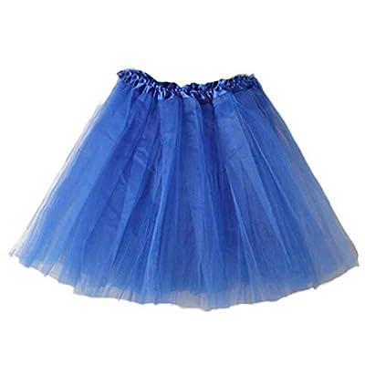 Women's Layered Tutu Skirt Dress Tulle Ballet Tiered Dance Ruffle Flared Mini Skater Skirt
