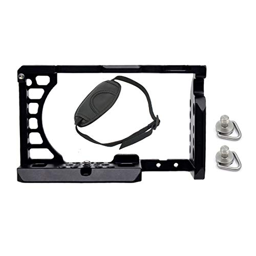 FEICHAO Jaula de cámara CNC compatible con A6500, A6400, EOS M50, M5, XT-2, XT3, caja de montaje de placa de liberación rápida para montaje en zapata fría (jaula de cámara B)