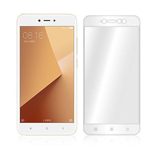 Granadatech® Cristal Templado Xiaomi Redmi Note 5 / 5A Prime [Pantalla Completa - Marco Blanco] [Cubre el Borde Biselado] Vidrio Templado Sin Burbujas HD Dureza 9H