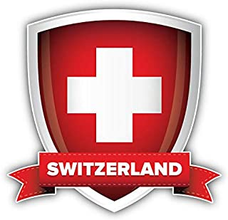 KW Vinyl Magnet Switzerland Flag Shield Label Truck Car Magnet Bumper Sticker Magnetic 5