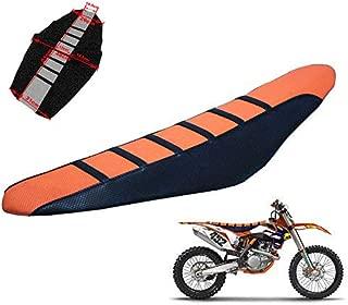 Rubber Pro Ribbed Gripper Funda de asiento suave para KTM All Bike Dirt Motorcycle Orange