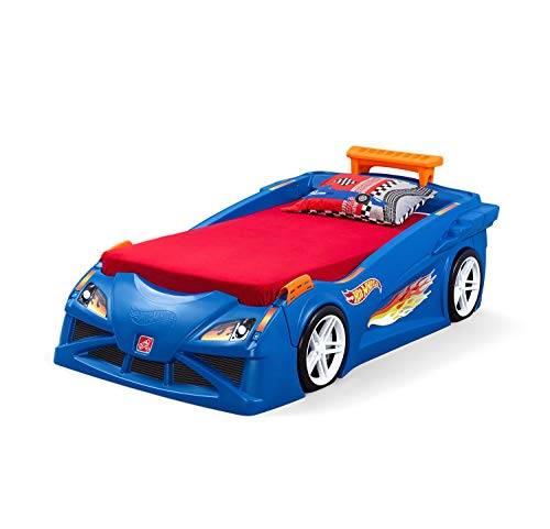 Toddler Hot Wheels Race Car Bed With Lights