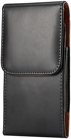 Premium Vertical PU Leather Pouch Case Belt Clip Holster for iPhone 8 Plus/Samsung Galaxy S9 Plus / J7 Prime 2 / A6 / J6 / LG G7 / LG V30 / K30 / Motorola Moto G6 Plus / G6 Play / E5 Plus (Black1)