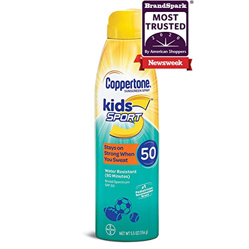 Coppertone SPORT KIDS Sunscreen Continuous Spray SPF 50 (5.5-Ounce)