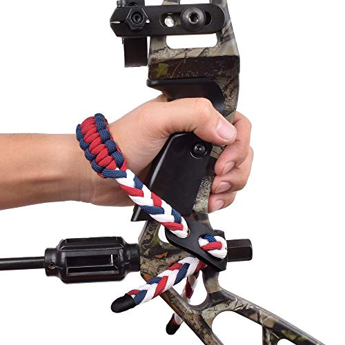Yls Bow Slings Archery Wrist Sling Compound Bow Easy Carry Adjustable for Hunting Shooting White