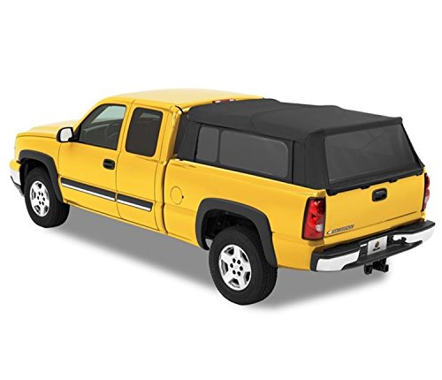 Bestop 76303-35 Black Diamond Supertop for Truck Bed Cover for 1997-2017 Chevy Silverado/GMC Sierra 1500/2500/3500, 6.5' Bed