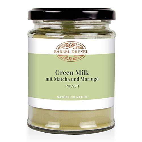 BÄRBEL DREXEL® Green Milk mit Matcha und Moringa Pulver, Energiespender (120g) 100% Vegane Herstellung Deutschland Superfood-Mix Getränk, Trinkpulver, Fasten