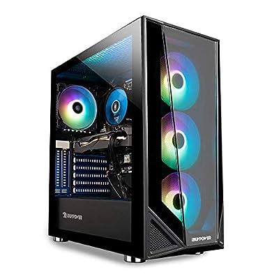 iBUYPOWER Pro Gaming PC Computer Desktop Trace 4 MR 180A (AMD Ryzen 5 3600 3.6GHz, NVIDIA GeForce GT 710 1GB, 8GB DDR4 RAM, 240GB SSD, WiFi Ready, Windows 10 Home) from iBUYPOWER