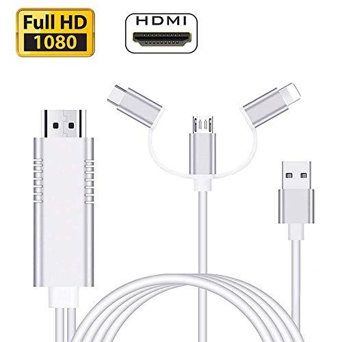 AMANKA Adaptador Cable HDMI,1080P Adaptador 3 in 1 AV Digita