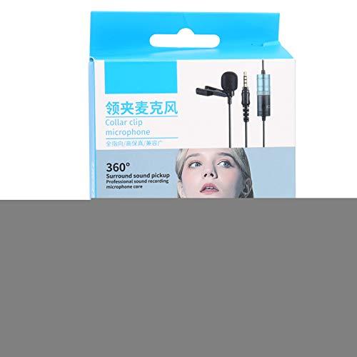 IGKE Lavalier-Mikrofonset ohne Wicklung, 6M / 19,7 Fuß langes Aufnahmekabel Weiches elastisches Lavalier-Ansteckmikrofon, für Live-Auftritte 3,5-mm-Mikrofonschnittstelle