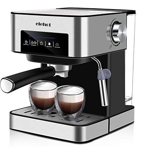 ELEHOT Cafetera Express Cafetera Espresso de Bomba Automática con Boquilla de...