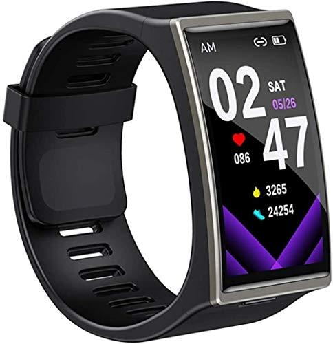Reloj Inteligente Hombres IP68 Impermeable Bluetooth 5 0 Fitness Pulsera Para Android IOS-Negro