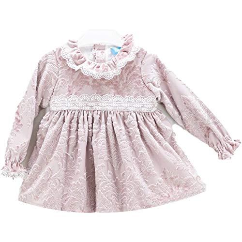 Tartaleta Vestido corto de chenilla rosa envejecido para niña A5162 Rosa 4 años
