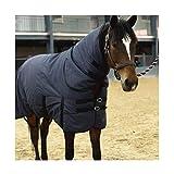 Coperta in Pile di Cavallo con Combinazione Collo Staccabile di Peso Medio per Mantenere Caldo E Traspirante(Size:135cm)