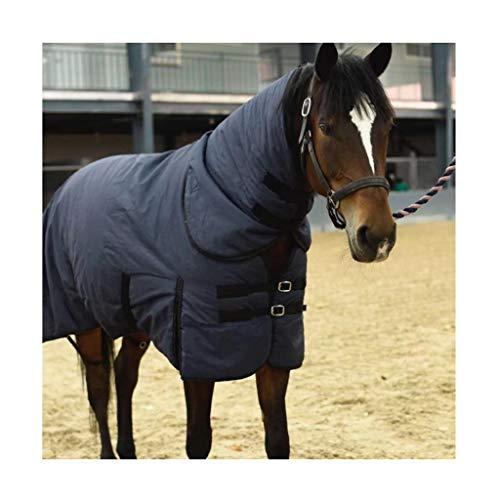 MaJu Pferdevlies Teppich Mittelgewicht Abnehmbare Halskombination Warm und atmungsaktiv halten(Size:125cm)