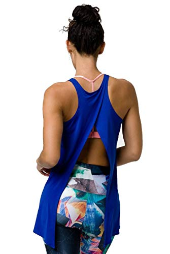 Onzie - Camiseta sin Mangas para Mujer - Azul - Talla Unica