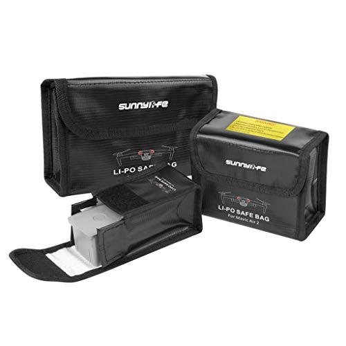 DJFEI Explosionsgeschützte LiPo Akku Tasche für DJI Mavic Air 2, Akku Schutzhülle LiPo Safe Bag Explosionsge Schütztes Case für DJI Mavic Air 2 (Für 3 Batterien)