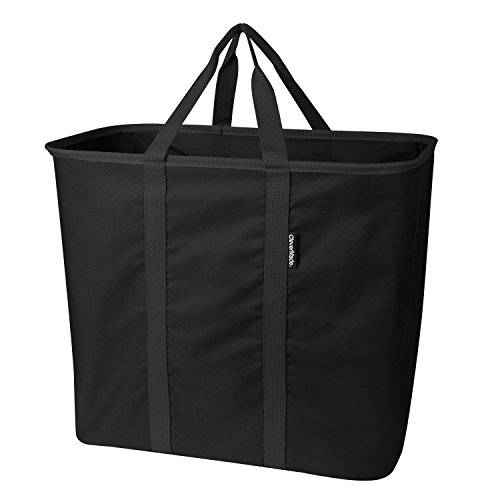 CleverMade Collapsible Laundry Tote, Large Foldable Clothes Hamper Bag, LaundryCaddy CarryAll XL Pop...