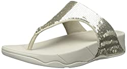 Pale Gold Electra Flipflop Slippers with Sequins