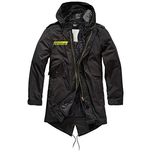 Spaß kostet Männer und Herren Parka lang Winter Jacke mit heraustrennbaren Futter Freiwillige Feuerwehr Größe S bis 5XL