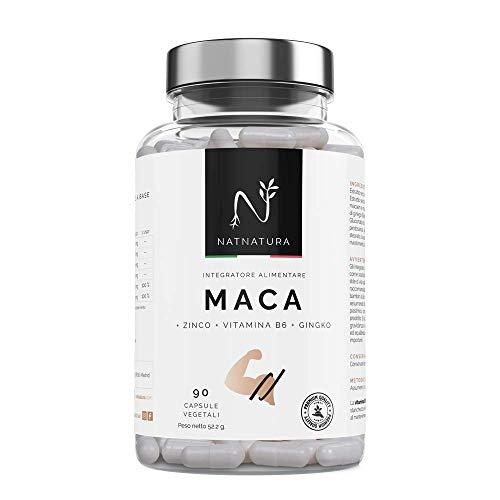 Maca + L-arginina + Zinco + Vitamine. Alta concentrazione di maca periuviana. Aumenta il livello di testosterone. Potenziatore muscolare. Aumentar i livelli di energia, resistenza e libido.