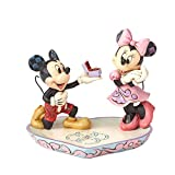 Disney Traditions, Figura de Mickey y Minnie con anillo de compromiso, para...