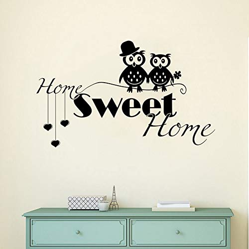 Tianpengyuanshuai Home Decoration Uil paar Wedding Muurstickers Home Muurtattoos afneembare Home Welkom muurschildering