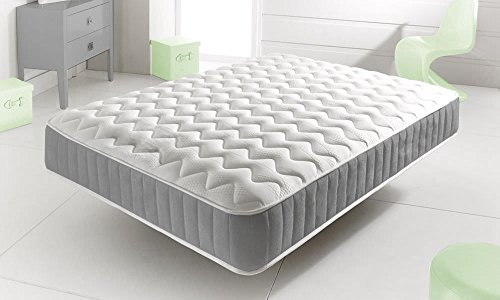 Home Furnishings UK Hf4you Palm Grey Quilted Memory Mattress - 5FT Kingsize