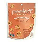 HEALTHY SNACKS TO FIT YOUR LIFE – Feel good about snacking, wherever life takes you. Whether you're on an adventure or just at home, Peeled Snacks Organic Cinnamon Apple Clusters are always USDA Organic, Gluten Free, Vegan, and Non-GMO Project Verifi...