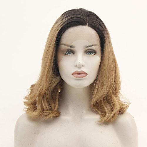 pruiken Dames kort krullend haar pruik half-hand haak kan warm geverfd kap kleur chemische vezel front lace pruik zijn