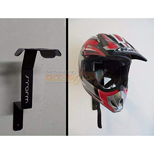 Helm Wandhalterung Helm Holder Sicherer stylische Aufbewahrung an der Wand für Jede Art von Helmen geeignet, die Wohl einzige auf dem Deutschen Markt
