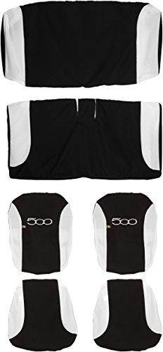 Lupex Shop 500 N.Bi Sitzbezüge, zweifarbig, schwarz/weiß