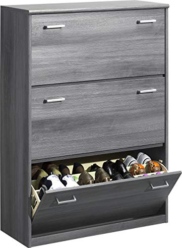 Plus cm1 Chipboard Cabinet Soft 94 Plus Soft 123 PieceSilberoak Density with Schmal x x Furniture Shoe High 36 CS Laminated87 rCBodex