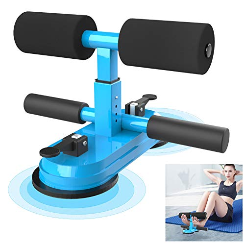 AERLANG Sit Up Bar for Floor, Upgraded Portable Sit Up Assistant Device Abdomen Exerciser with 2 Suction Cups, Adjustable Self-Suction Sit Up Bar, Household Fitness Equipment for Body Building