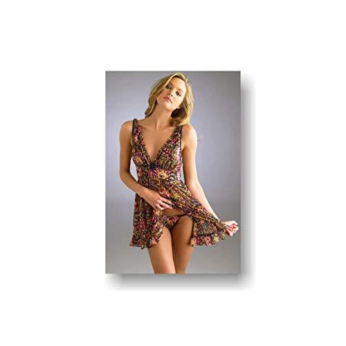 WSHIYI Pop Poster Supermodel Sexy Poster Wallpaper Sexy Dessous Poster-60x90cm ohne Rahmen