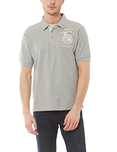 Ultrasport Fort Lauderdale Collection Polo para hombre Wadhurst, polo clásico para hombre con tres botones, ideal para el deporte y el ocio, Gris Mezcla, XL
