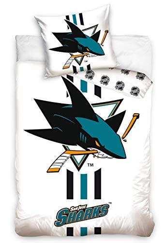 NHL San Jose Sharks 181002 National Hockey League Fan Bettwäsche 140x200 cm + 70x90 cm