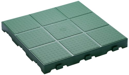 TOOMAX Z661RE52 Art 661 Floory Full Lot de 10 Carrelages à Usage Externe Polypropylène Vert 40 x 40 x 4 cm