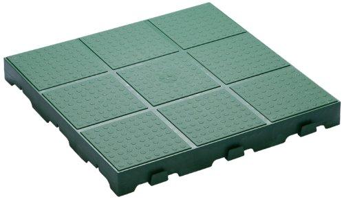 TOOMAX Z661RE52 Art 661 Floory Full Lot de 10 Carrelages à Usage Externe Polypropylène Vert 40 x 40 x 4 cm