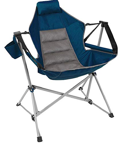 Swing Chair Lounger Wide Seat with Adjustable Backrest, Blue