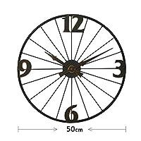 クロック 壁掛け時計,ヴィンテージウォールクロック アイアンアート クリエイティブ 中空タイプ ミュート、 に適し リビングルーム カフェ,A
