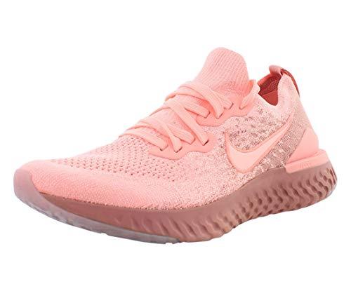 Nike Women's Epic React Flyknit Running Shoe, Pink, Size 7.5