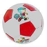 QuRRong Balón de Fútbol Fútbol Infantil PVC Material de Dibujos Animados Pelota de fútbol de Entretenimiento al Aire Libre para Backyard Street (Color : Red, Size : One Size)
