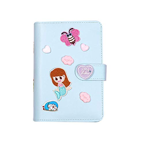 Aoliao Notepad Set A6 PU Leather Notebook Binder with Accessories for Writing Spiral Coil Diary for Girl Travelers Writers