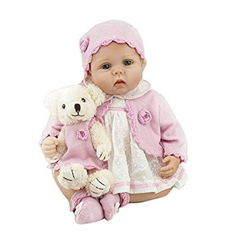 Nicery Reborn Muñecas Baby Vinilo de Silicona Suave Para Niños y Niñas Regalos de Navidad de Cumpleaños Muñecas Reborn 20-22 inch 50-55 cm Juguetes Reborn Baby Doll gx55-264es