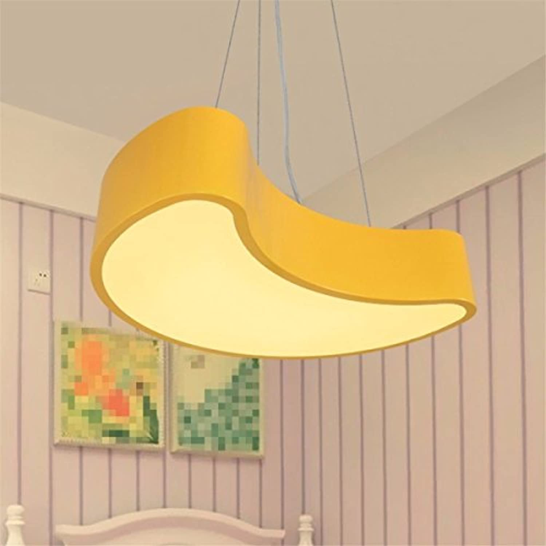 RXFRD Moderne Kreative Persnlichkeit Farbe CardLedPetals Kronleuchter Kindergartenklasse Kinderzimmer Jungen Und Mdchen Zimmer Gelbe Blütenbltter [Energieklasse A +++]