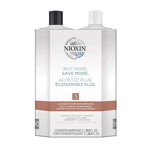 System 3 Cleanser Shampoo and Scalp Therapy Conditioner, Liter Duo 33.8 oz Each